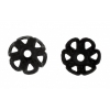 Bead Caps Black 4mm